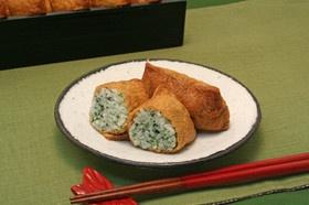 青のりと帆立のいなり寿司