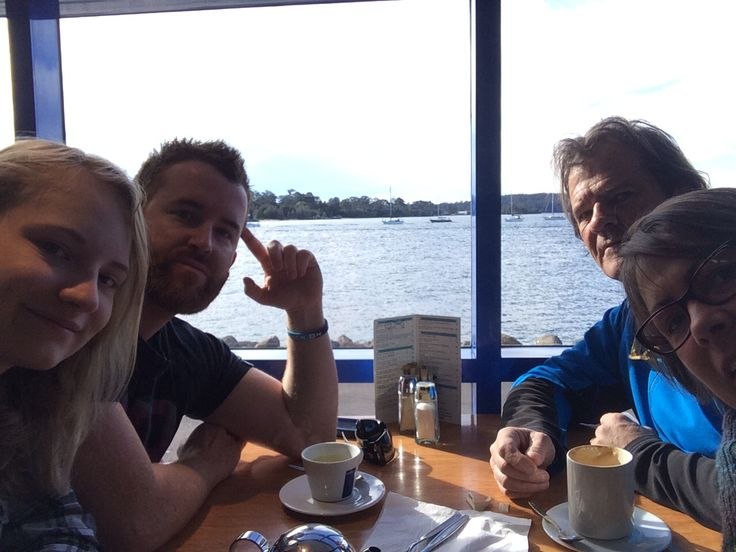 Day 179 brekky at the bay with Steve , Christian & Sarah