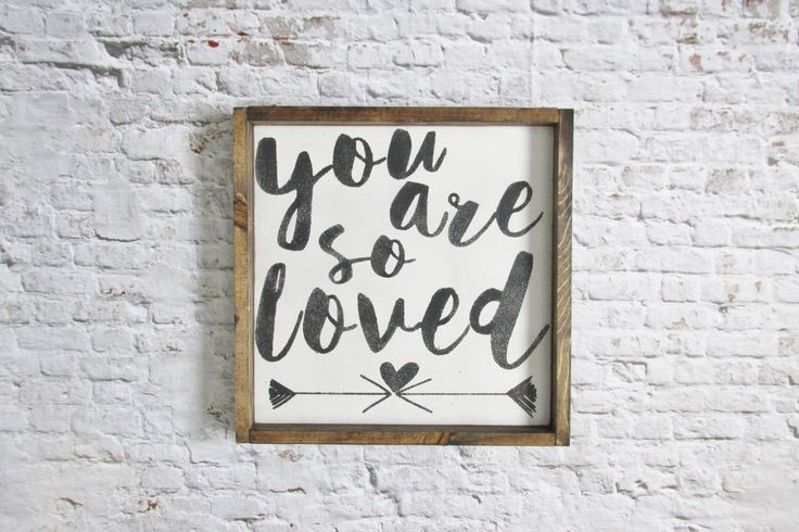 You Are So Loved Wood Sign. Nursery Decor. Rustic Signs. Wooden Signs. Rustic Nursery Decor. Farmhouse Decor. Gallery wall art gift under 50 by WilliamRaeDesigns on Etsy https://www.etsy.com/ca/listing/235274252/you-are-so-loved-wood-sign-nursery-decor