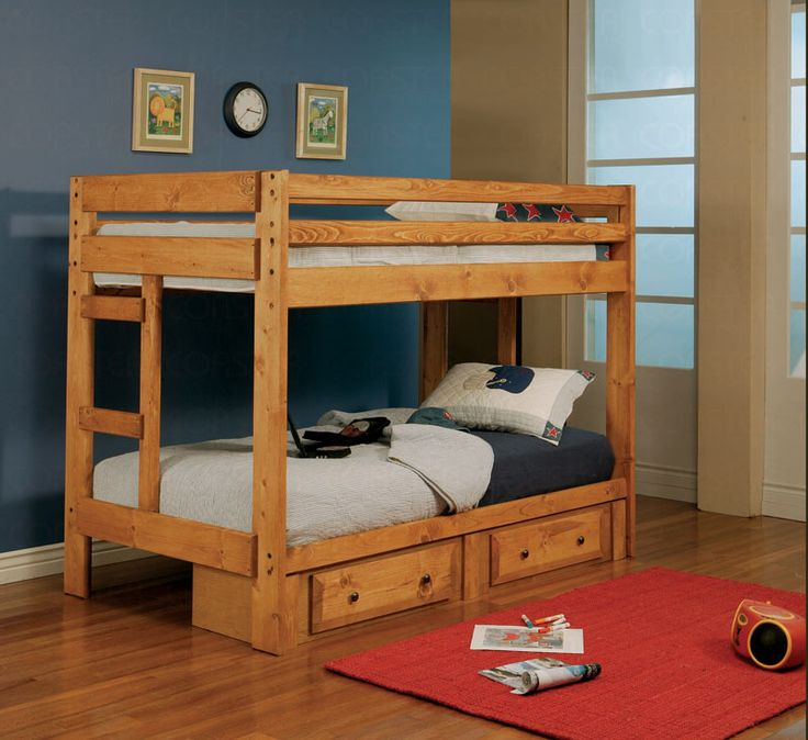 My father-in-law ordered a bunkbed for my children. They are so excited!!!!!!: Builtin Ladder, Wrangl Hill, Amber Wash, Bunk Beds, Twin Bunk, Beds Frames, Coasters, Kids Rooms, Hill Twin