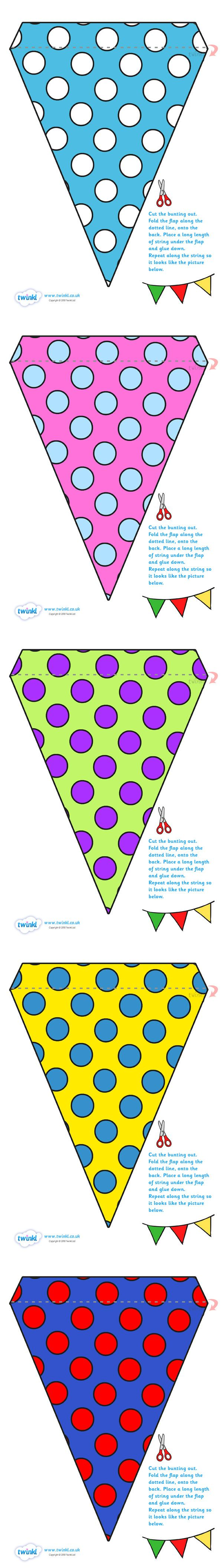 Twinkl Resources >> Display Bunting Spots  >> Thousands of printable primary teaching resources for EYFS, KS1, KS2 and beyond! bunting, display bunting, classroom bunting, decorative bunting, royal wedding, classroom display,