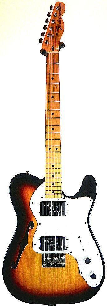 Fender Mexico Classic Series '72 Telecaster Thinline (3-Color Sunburst)