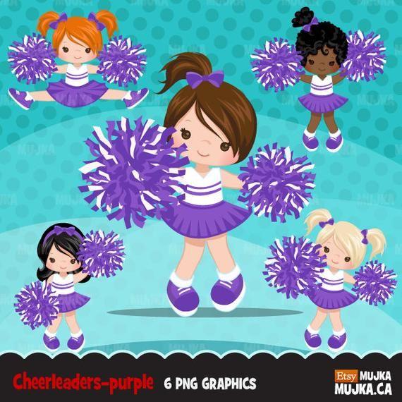 Cheerleader Clipart Sports Graphics Cheerleader Pom Pom Etsy Cheerleader Clipart Clip Art Cheerleading