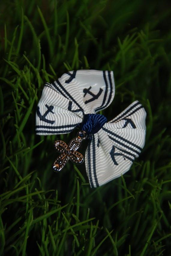 Blue & White Sailor Themed Martyrika $10 - Christening Witness Pins at Greek Wedding Shop ~ http://www.greekweddingshop.com