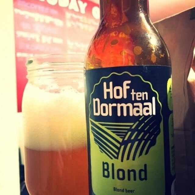 Blond by Brouwerij Hof Ten Dormaal - thick with farmy barley and grainy sourness  #hoftendormaal #farmbrewery #blondeale #craftbeer