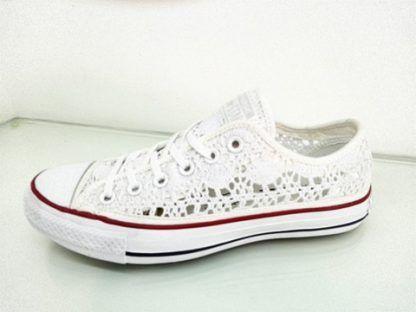 5a83a4137334 Vendita Online Converse All Star Basse Pizzo Crochet Bianco- Balzi Calzature