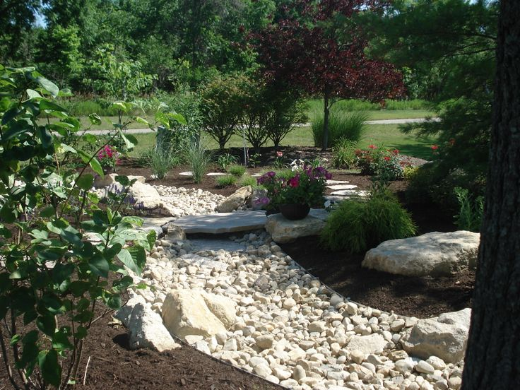 Landscape with dry creek bed residential landscapes for Dry landscape design