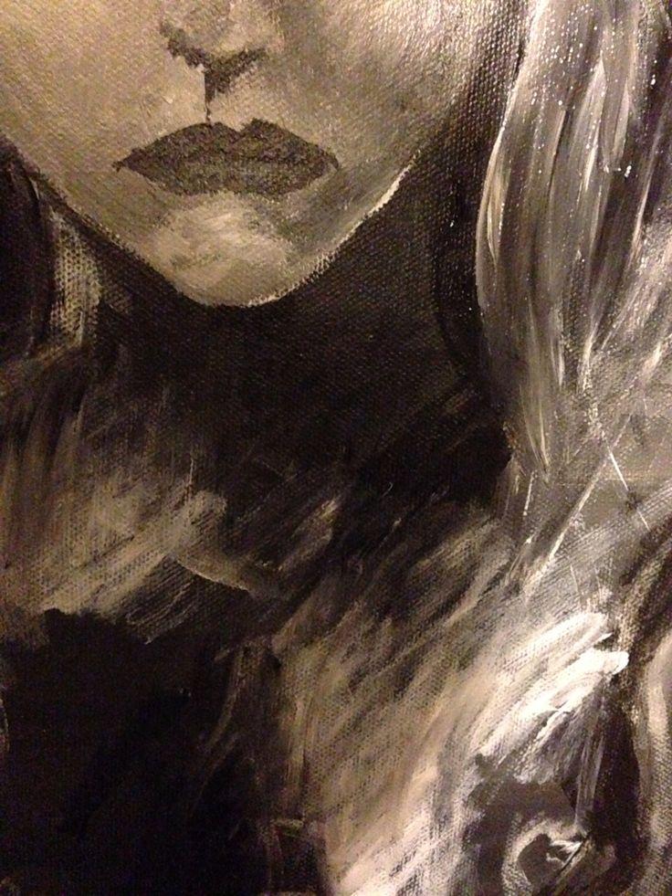 In progress, akryl på canvas