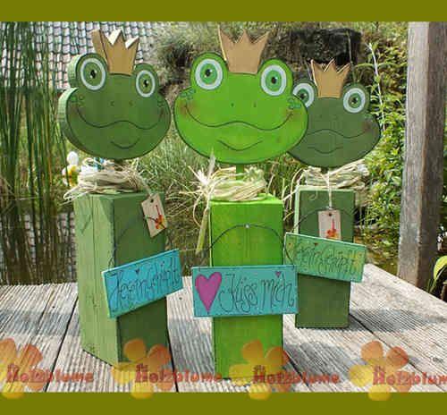 Holzpfosten Frosch