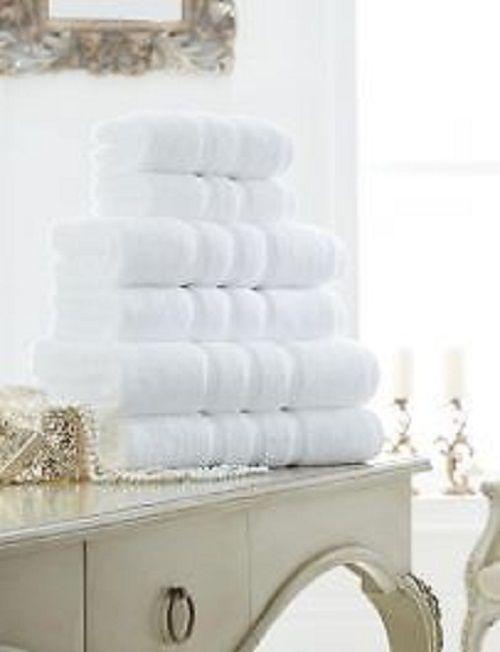 Zero Twist White Hand Towel Bath Towel &Bath Sheets – Linen and Bedding