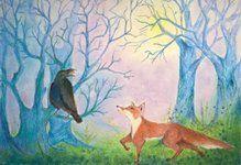 dubbele kaart 242 de vos en de raaf brechtje duijzer