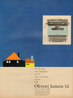 A pink Olivetti Lettera 32 soon in the shop: http://www.etsy.com/shop/TypewriterWshop Vintage advertisement (1964)
