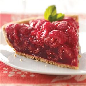 Fresh Raspberry Pie Recipe -Mouthwatering fresh raspberries star in this luscious pie. There's nothing to distract from the tangy berry flavor and gorgeous ruby color. A big slice is an excellent way to enjoy the taste of summer.—Patricia Staudt, Marble Rock, Iowa