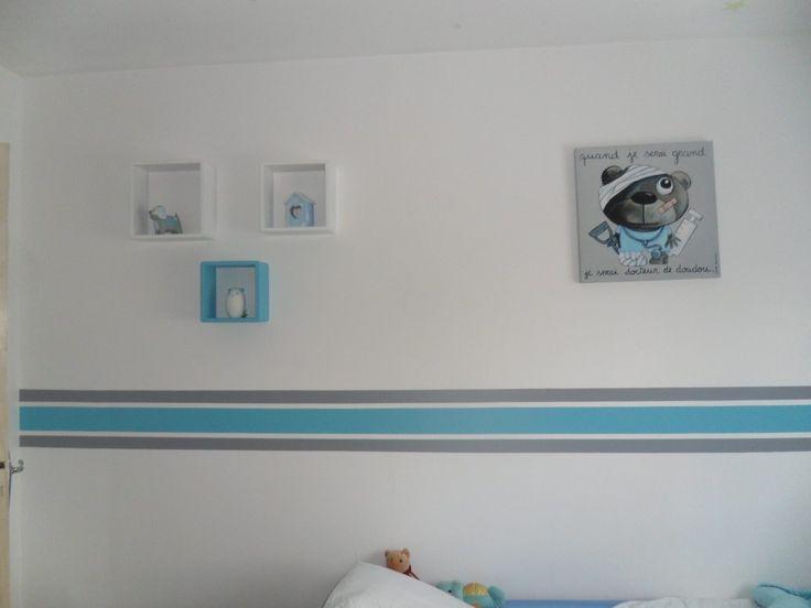 chambre de mon fils Alexis - la disposition a été difficile a choisir mais c'est la meilleur idée qu'on ai eu!