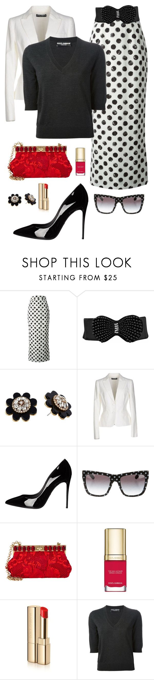 """""""Belted Maxi Skirt"""" by ann-kelley14 on Polyvore featuring Dolce&Gabbana and Kate Spade"""