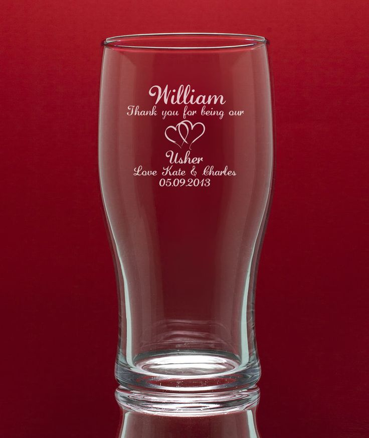 Personalised Engraved Tulip Pint Glass - Best Man/Usher/Birthdays etc Gift Boxed in Home, Furniture & DIY, Celebrations & Occasions, Other Celebrations & Occasions | eBay