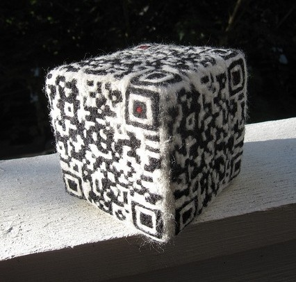 28 best qr code in the city images on pinterest qr codes she needle felted a qr code die which you scan to go to a randome number generator site too geeked for words fandeluxe Image collections