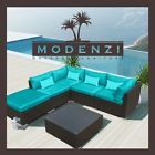 6pc Outdoor Patio Furniture Sectional Rattan Wicker Sofa Chair Couch Set Chaise