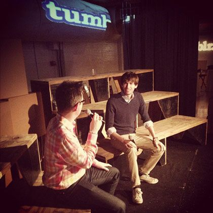 David Karp tells Felix Salmon of Reuters about the fundamental differences between Tumblr and Pinterest.
