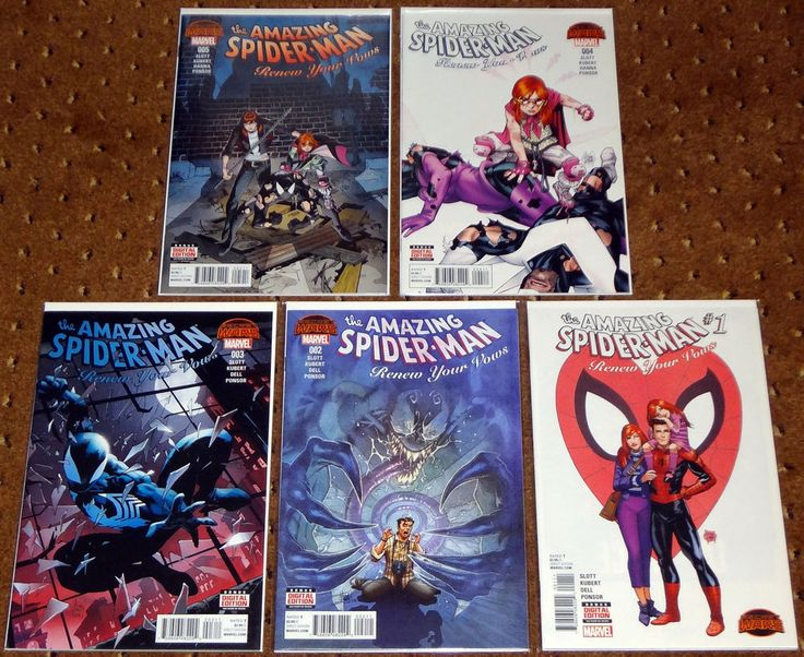 THE AMAZING SPIDER-MAN RENEW YOUR VOWS #1-5 1ST PRINTING 2015 MARVEL SECRET WARS