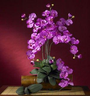 Искусственные и засушенные цветы в интерьере