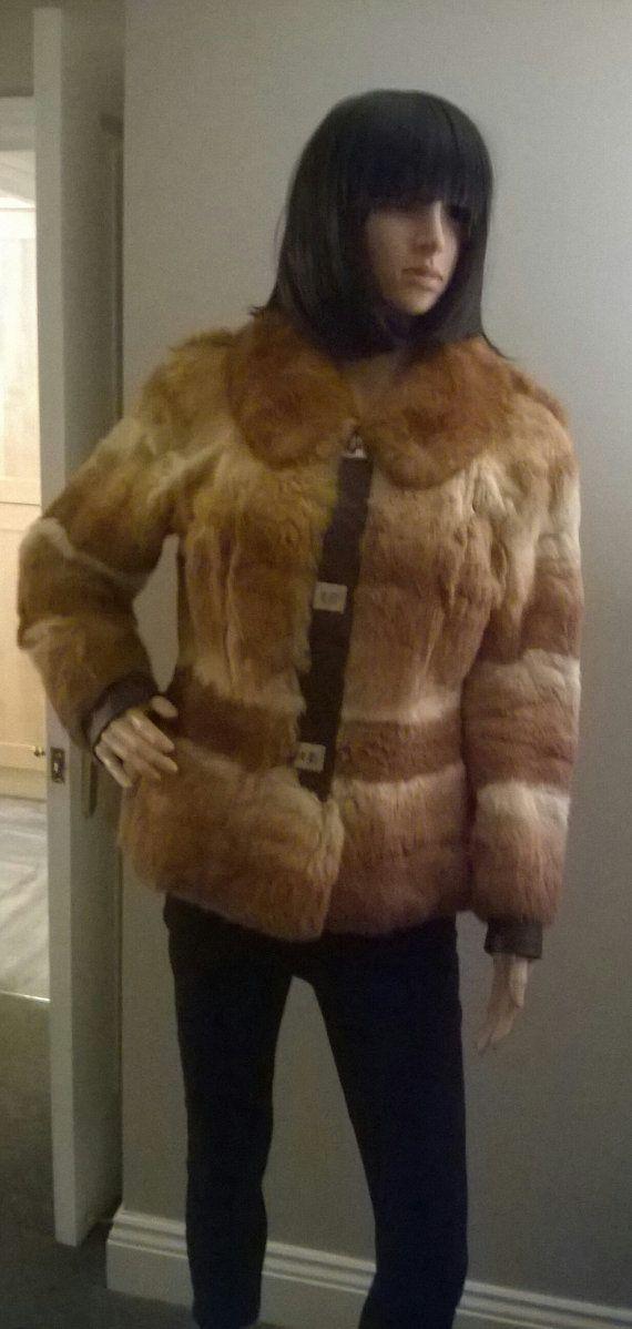 Unusual vintage 60s ombre real fur jacket by CaronPowerJewellery
