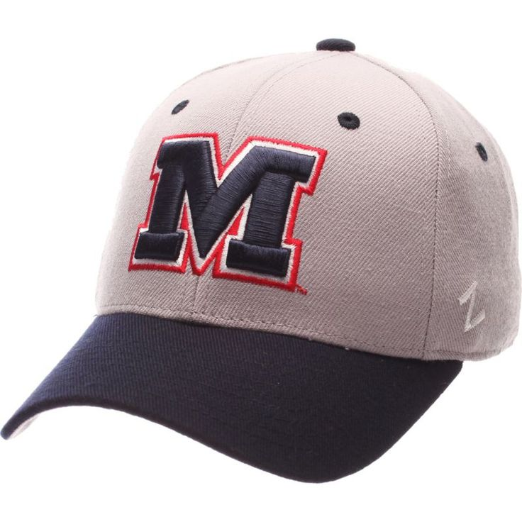 Zephyr Men's Ole Miss Rebels Blue DH Fitted Hat, Size: 7 1/8, Team