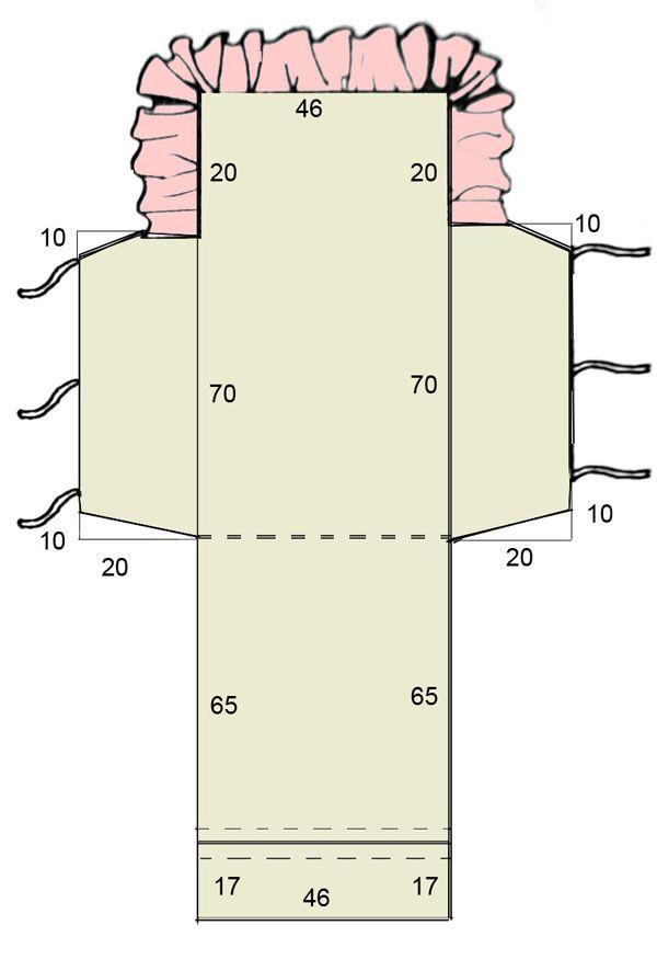 Расчеты для построения выкройки конверта