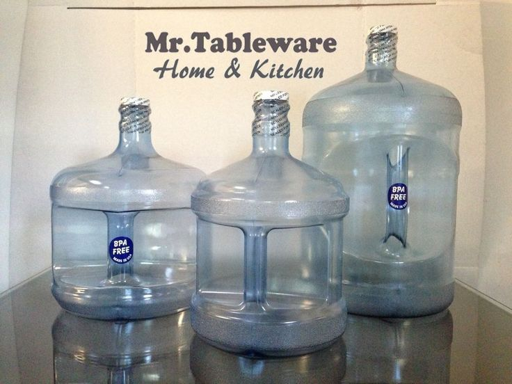 made in usa bpafree plastic 5 gallon or 3 gallon or 2 gallon water bottle jug