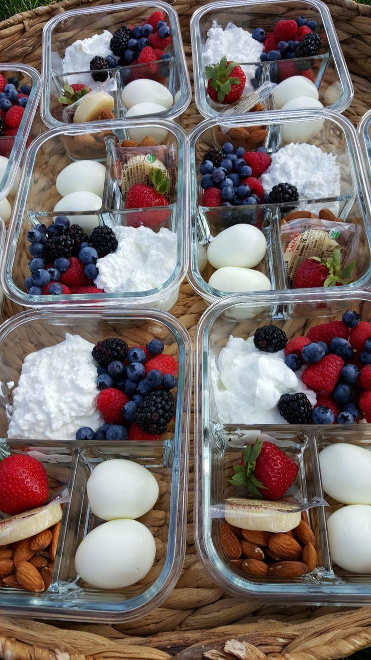Protein verpackte Frühstück Bento Boxen