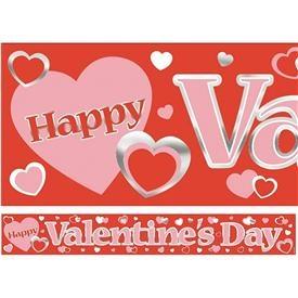 Vamos a hacer del día de San Valentín un día de lo más especial .... y para que la entrada de tu amado / a sea impactante coloca este banner de 3,65 metros con corazones y un HAPPY VALENTINES DAY!