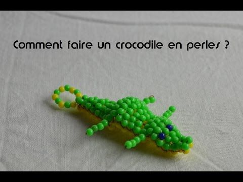 Comment faire un crocodile en perles - YouTube