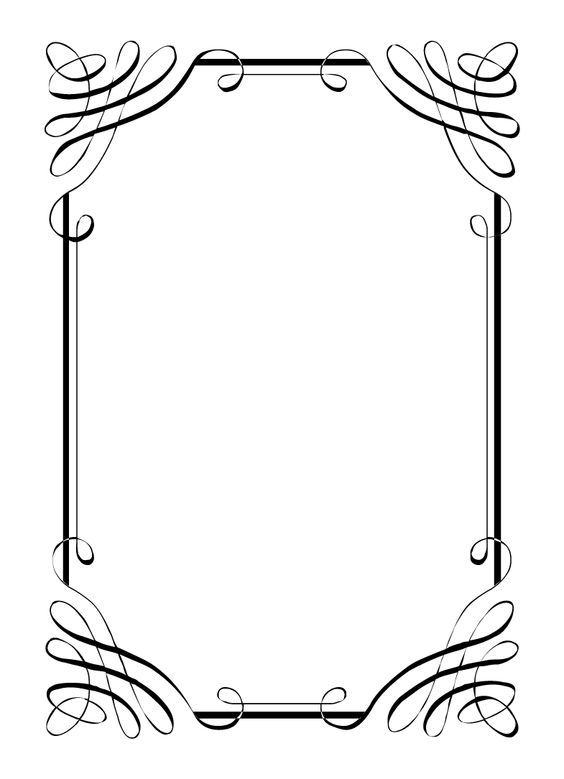 Free vintage clip art images: Calligraphic frames and borders: