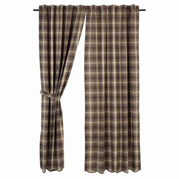 Castlekeep Plaid And Check Blackout Rod Pocket Curtain Panels