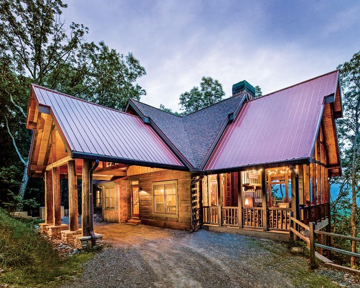 Deep in the forest in a georgia log home for Log cabin sunroom additions
