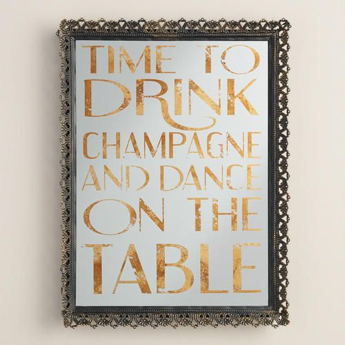 Celebrate all year long with our festive serving tray, featuring beautiful gold foil lettering and decorative feet. Use it to serve drinks or display it in the kitchen as a reminder to enjoy the moment!