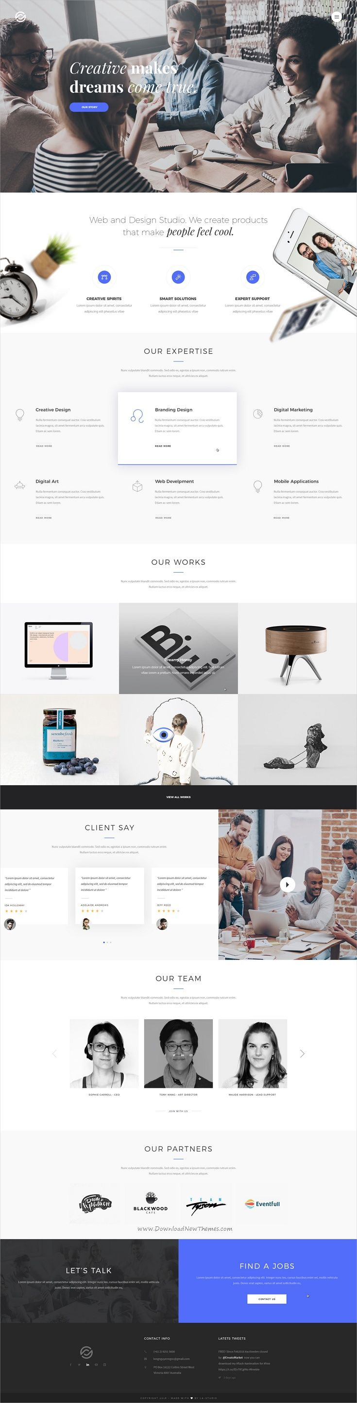 Optima is a multipurpose #PSD template for #webdev creative #business websites with 22+ multipurpose homepage layouts, 19+ portfolio style, 12 blog style and 78 organized PSD pages download now➩  https://themeforest.net/item/optima-multipurpose-psd-template/19407294?ref=Datasata
