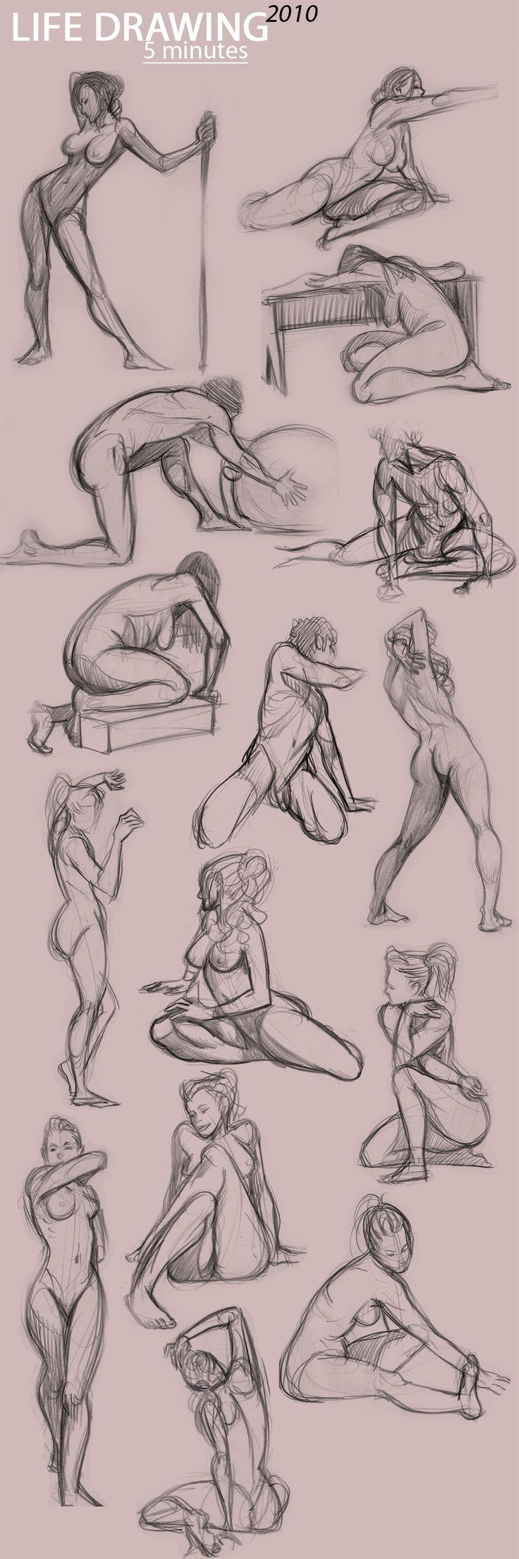 life drawing, anatomy, poses