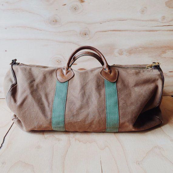Vintage L L Bean Canvas Duffle Bag Duffle Bags Ll Bean