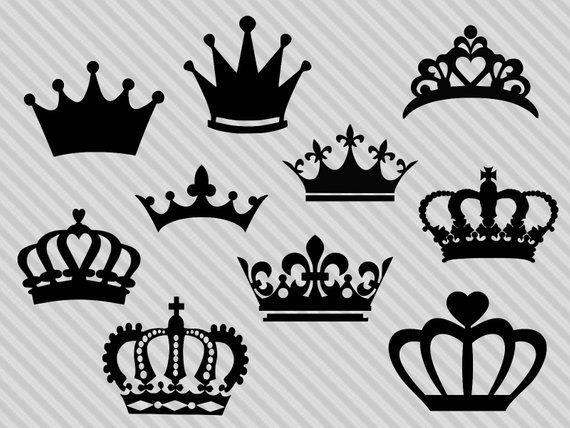 Couronne De Fichier Svg Couronne Clipart Silhouette De La In 2021 Crown Silhouette Crown Stencil Clip Art