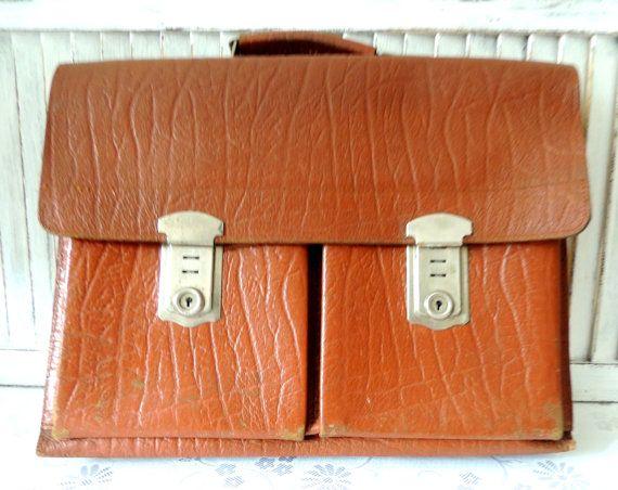 Swedish Vintage Leather Handle Bag Satchel Messenger
