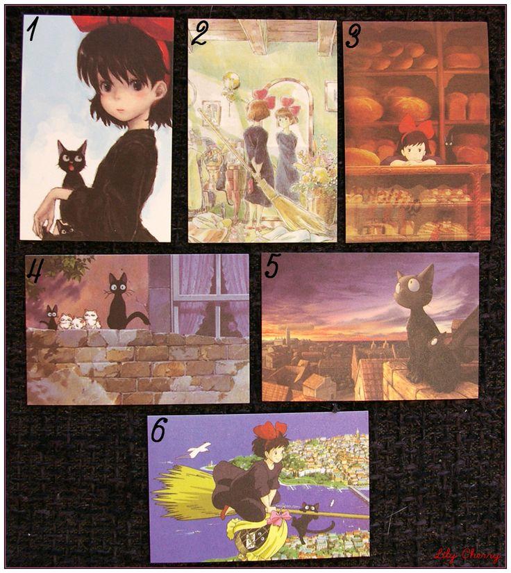 "Mini Carte ghibli totoro kiki chihiro arrietty ponyo mononoké asiatique ""modéle 3"" x1 : Papeterie, carterie par lilycherry"