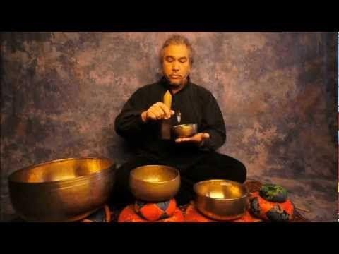 Chakra Meditation Series 3rd Eye/Ajna using A Note Himalayan Singing Bowls for the 6th Chakra