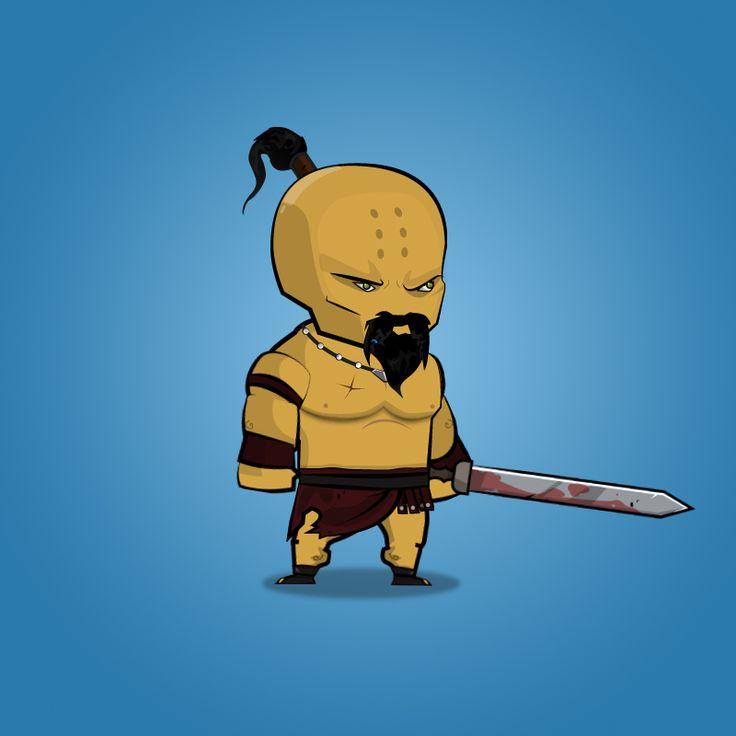 Barbarian 2D Platformer Character Art