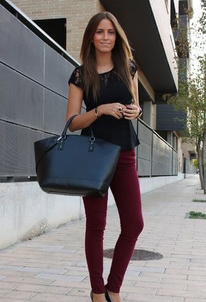 Great outfit for sixth form/college!! Bershka Shirt / Blouses, Zara  Jeans and Zara  Bags