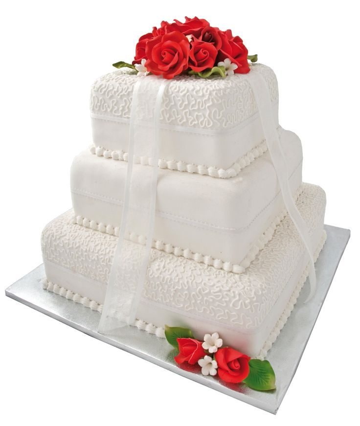 Wedding Cake White Roses