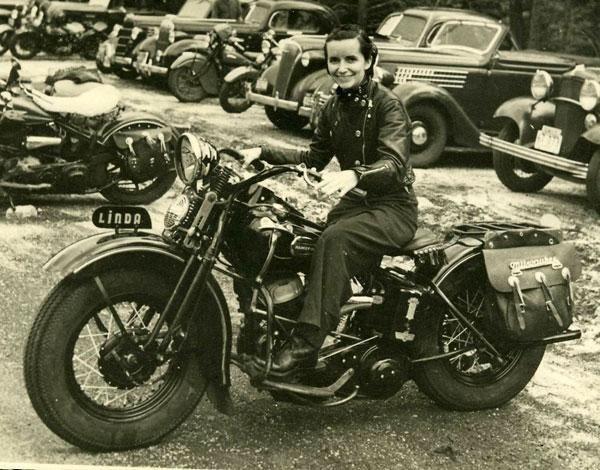 Vintage biker pic.