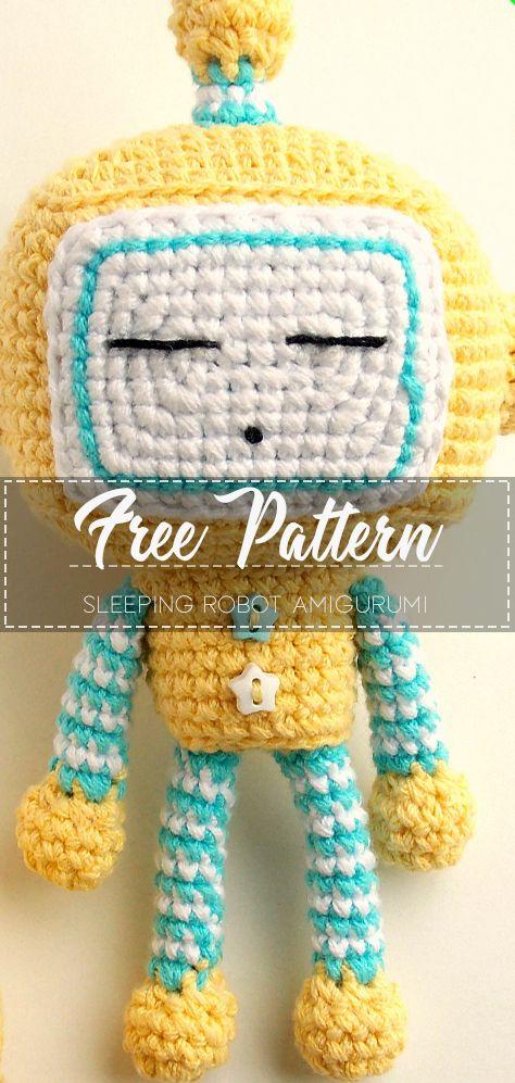 Sleeping Robot Amigurumi – Pattern Free