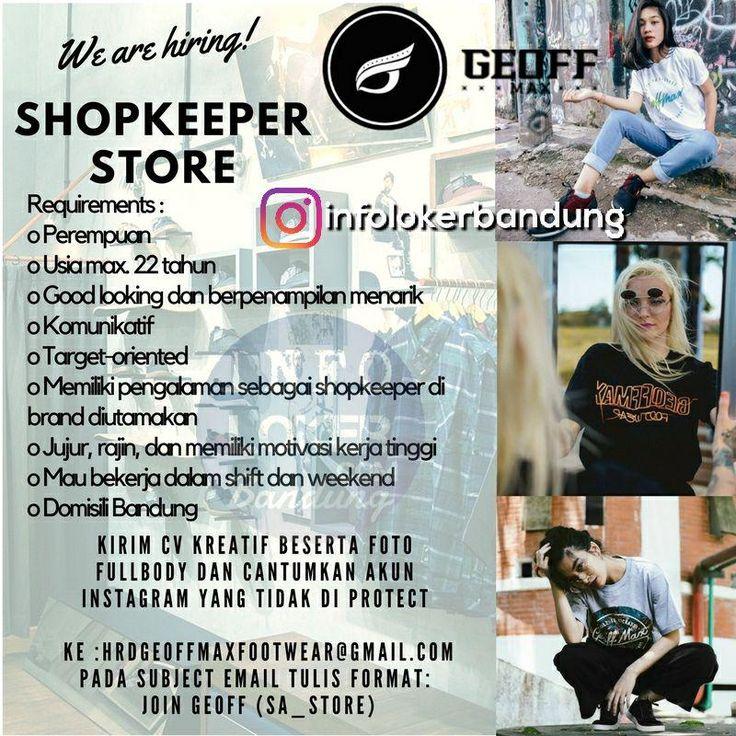 Lowongan Kerja Shopkeeper Store Geoff Max Footwear Bandung November 2017