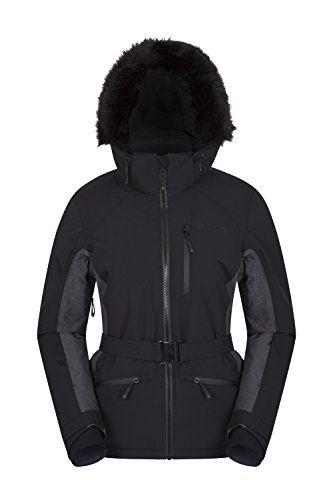 Mountain Warehouse Snow Burst Womens Extreme Ski Jacket Black 4 Best Value Buy On Amazon Winteroutfits Ski Jacket Ski Jacket Women Black Ski Jacket